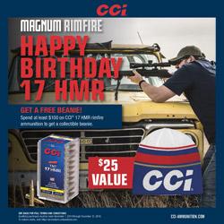 CCI Happy Birthday 17 HMR Ammo Rebate Info