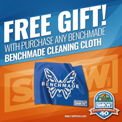 Free Benchmade Cleaning Cloth with Any Benchmade Purchase! While supplies last.