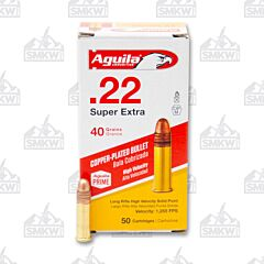 Aguila Super Extra High Velocity 22 LR 40 Grains 50 Rounds