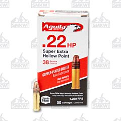 Aguila Prime Ammo .22LR 38 Grain Copper-Plated Hollow Point 50 Rounds