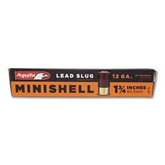 """Aguila Minishell 12 Gauge 1-3/4"""" 7/8 oz Rifled Slug 20 Rounds"""