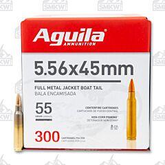 Aguila 5.56 NATO 55 Grain Full Metal Jacket 300 Rounds