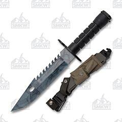 "13"" M9 Bayonet Survival Knife Smoky Haze Camo Blade"