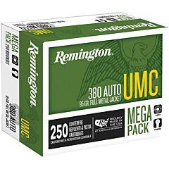 Remington UMC 380 ACP 95 Grain Metal Case 250 Rounds