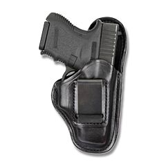 BIANCHI Model 100 Professional Right Hand Carry Black Leather Holster Size 1