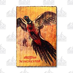 Winchester Western Pheasant Hunting Corrugated Metal Sign