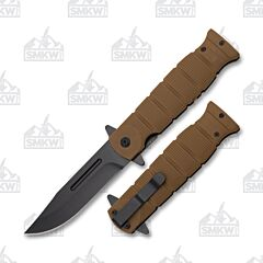 Folding Fighter Brown Rubber Handle