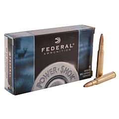 Federal Powe-Shok 30-06 Springfield 180 Grain Soft Point 20 Rounds