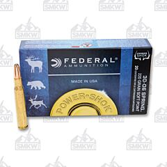 Federal Power-Shok 30-06 Springfield 220 Grain Speer Hot-Cor Soft Point 20 Rounds