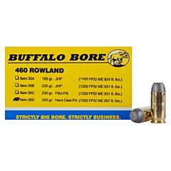 Buffalo Bore 460 Rowland 255 Grain Hard Cast Lead Flat Nose 20 Rounds