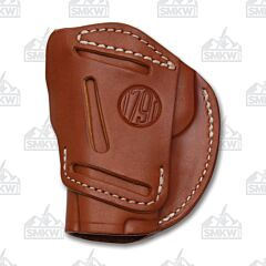 1791 Gunleather 4 Way 4WH-1 Classic Brown Right Carry Concealment & Belt Leather IWB & OWB Holster