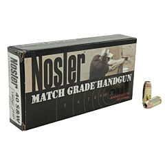 Nosler Match Grade 40 S&W 180 Grain Jacketed Hollow Point 50 Rounds