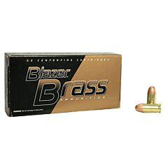 CCI Blazer Brass 380 ACP 95 Grain Full Metal Jacket 50 Rounds