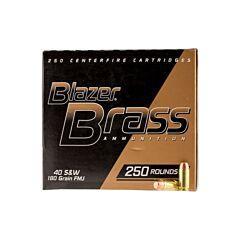 CCI Blazer Brass 40 S&W 180 Grain Full Metal Jacket 250 Rounds
