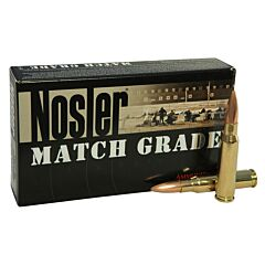Nosler Match Grade 308 Winchester 155 Grain Custom Competition Jacketed Hollow Point 20 Rounds