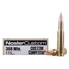 Nosler Match Grade 308 Winchester 175 Grain Custom Competition 20 Rounds