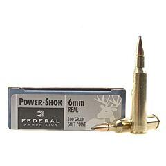 Federal Power-Shok 6mm Remington 100 Grain Soft Point 20 Rounds