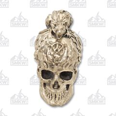 Swan Lake Knives Nickel Silver Skull with Rat Pommel
