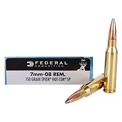 Federal Power-SHok 7mm-08 Remington 150 Grain Speer Hot Cor-SP 20 Rounds