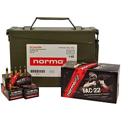 Norma USA TAC 22 Long Rifle 40 Grain Lead Round Nose 500 Rounds