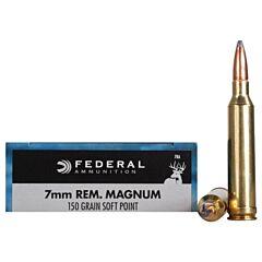 Federal Power-Shok 7mm Remington 150 Grain Soft Point 20 Rounds