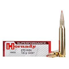 Hornady Superformance 270 Winchester 130 Grain GMX Boat Tail 20 Rounds