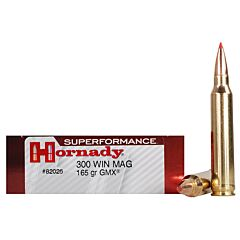 Hornady Superformance 300 Winchester Magnum 165 Grain GMX Boat Tail 20 Rounds