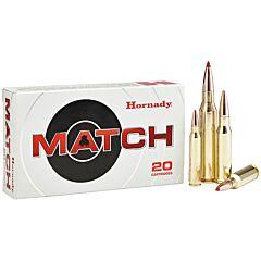 Hornady Match 338 Lapua Magnum 285 Grain ELD Polymer Tip Boat Tail 20 Rounds