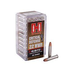 Hornady Critical Defense 22 Winchester Magnum Rimfire 45 Grain Flex Tip Expanding 50 Rounds