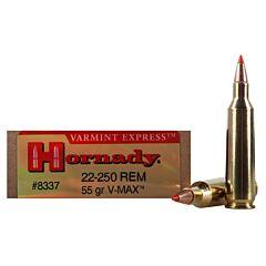 Hornady Varmint Express 22-250 Remington 55 Grain V-Max 20 Rounds