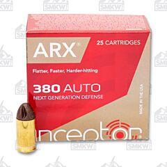 Inceptor Preferred Defense 380 ACP 56 Grain ARX 25 Rounds