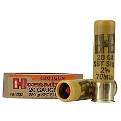 """Hornady SST 20 Gauge 250 Grain 2.75"""" Polymer Tip Slug Shot 5 Rounds"""