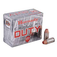 Hornady Critical Duty 40 S&W 175 Grain Flex Lock Polymer Tip Flat Base 20 Rounds