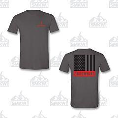 Browning Men's Tonal Flag T-Shirt Charcoal