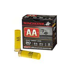 """Winchester AA Heavy Target 20 Gauge 2-3/4"""" 1 oz #8 Shot 25 Rounds"""