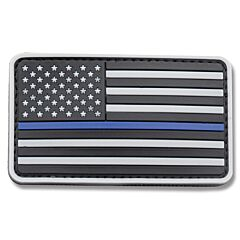 U.S. Flag PVC Morale Patch Police SWAT