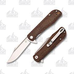 Artisan Cutlery Hyperion Brown Burlap Micarta SMKW Exclusive