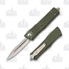Microtech Combat Troodon D/E Stonewash Partially Serrated OD Green