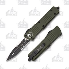 Microtech Combat Troodon D/E OD Green Partially Serrated