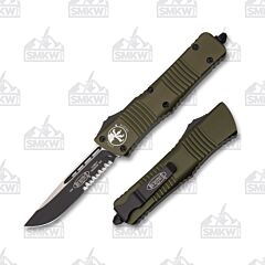 Microtech Combat Troodon S/E OD Green Partially Serrated