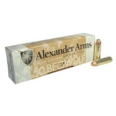 Alexander Arms 50 Beowulf 335 Grain Full Metal Jacket Flat Point 20 Rounds