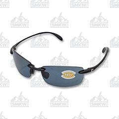 Costa Ballast Sunglasses Black Plastic Frame Gray Polarized Plastic Lenses