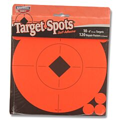 "Birchwood Casey Target Spots 10"" 10ct 6"" Diameter Targets with 120ct Repair Pasters"