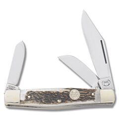 "Buck Creek Big Diamondback Stockman 4.25"" with Deer Stag Handle and Stainless Steel Blades Model BC-659DS"