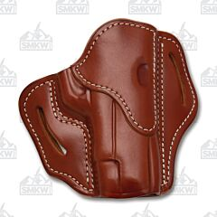 1791 Gunleather Classic Brown Open Top Right Hand OWB 2.3 Multi-Fit Belt Holster Size 1