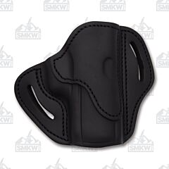 1791 Gunleather Stealth Black Open Top Right Hand OWB 2.4S Multi-Fit Belt Holster Size 1