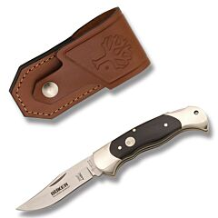 Boker Scout Folding Hunter N690 Stainless Steel Blade Smooth Buffalo Horn Handle