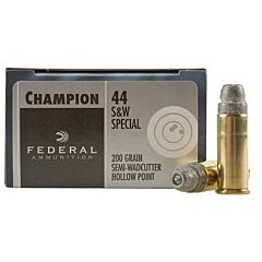 Federal Champion 44 Special 200 Grain Semi-Wadcutter Hollow Point 20 Rounds