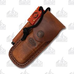 Case Leather Sheath With Fire Rod