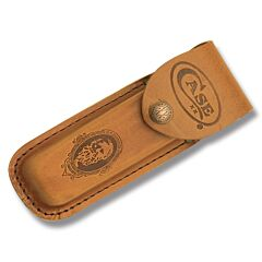 """Case Job Case Portrait Leather Sheath fits Pocketknives up to 4"""" Closed"""